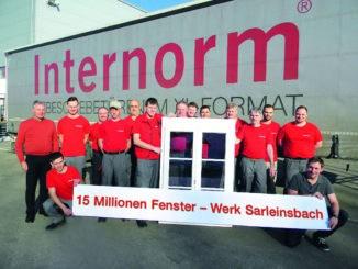 Internorm feiert das vierzigjährige Jubiläum des Standortes Sarleinsbach.